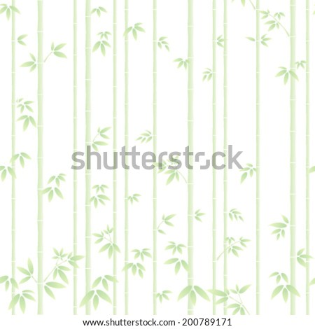 bamboo forest isolated on the white background - stock vector