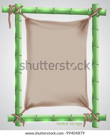 bamboo frame - stock vector