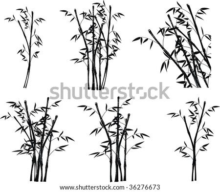 bamboo in vector format very easy to edit