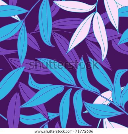 bamboo leaves seamless pattern