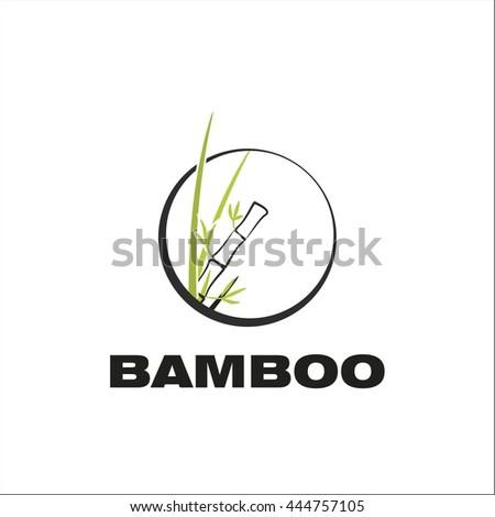Bamboo logo - stock vector