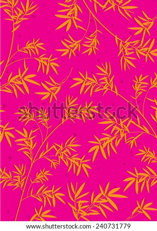Bamboo Pattern Background (vector) - stock vector