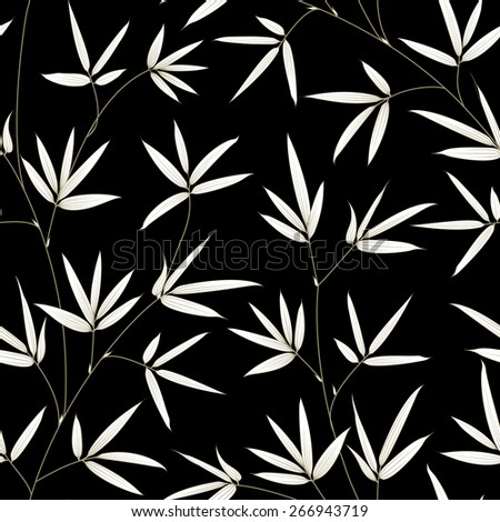 Bamboo seamless texture for fabric swatch. Vector illustration. - stock vector