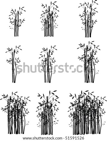 bamboo set pack in vector format very easy to edit