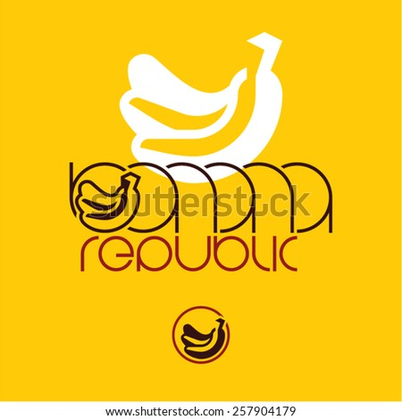 Banana icon. Banana label. Bananas isolated fruits.  - stock vector
