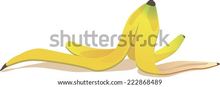 banana peel - stock vector