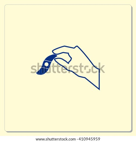 Bandage plaster vector icon.