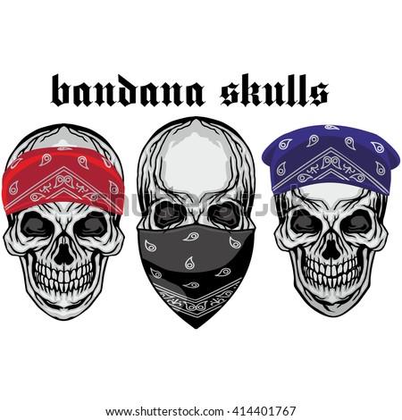 bandana skull grungevintage design tshirts stock vector 414401767 shutterstock. Black Bedroom Furniture Sets. Home Design Ideas