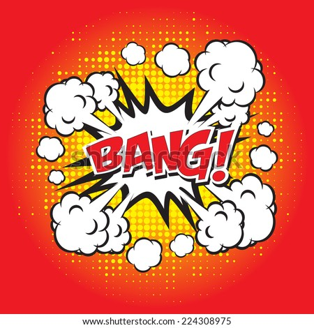 BANG! comic word