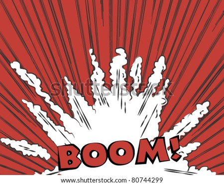 Bang illustration in comic style - stock vector