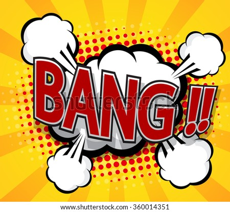 bang pop art,comic book background vector illustration - stock vector