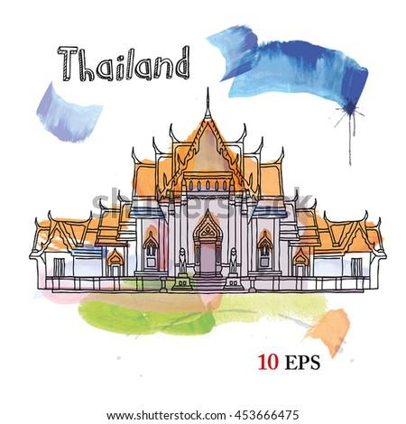 bangkok. thailand - stock vector