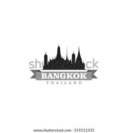 Bangkok Thailand city symbol vector illustration - stock vector