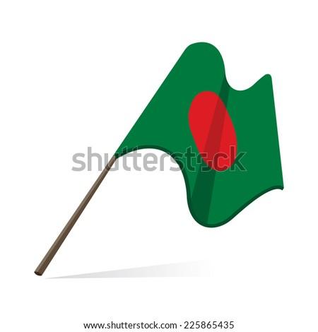 bangladesh flag, flag of bangladesh - stock vector