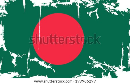 Bangladesh grunge flag. Vector illustration. Grunge effect can be cleaned easily. - stock vector