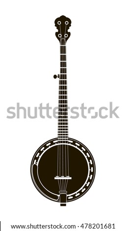 banjo musical instrument vector illustration