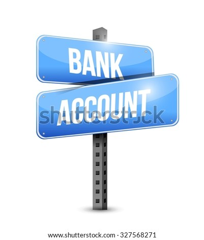 bank account sign concept design graphic - stock vector