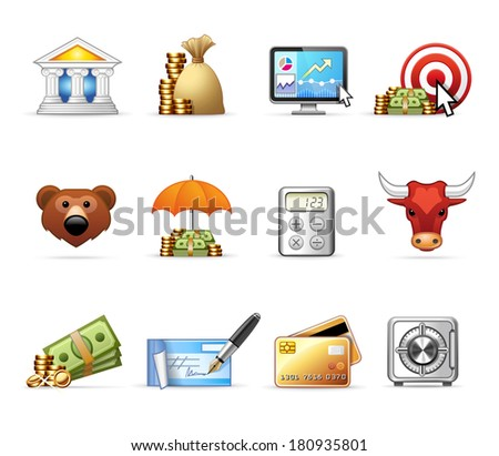 Bank and Finance  |  Professional icon set