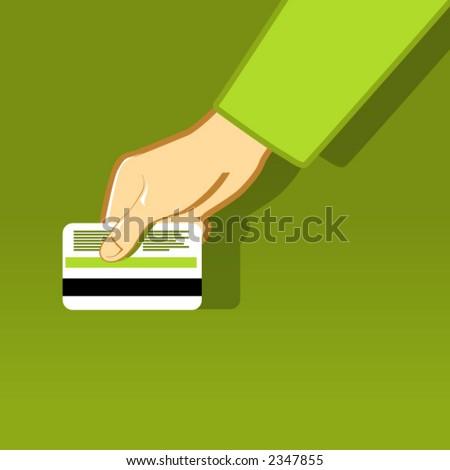 Bank Card - Close Up - stock vector