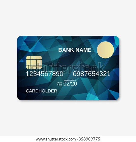 bank card credit card discount card stock vector 350624087 shutterstock. Black Bedroom Furniture Sets. Home Design Ideas