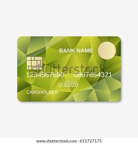 modern blue business visiting card vector stock vector