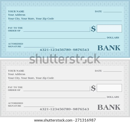 how to make a bank cheque