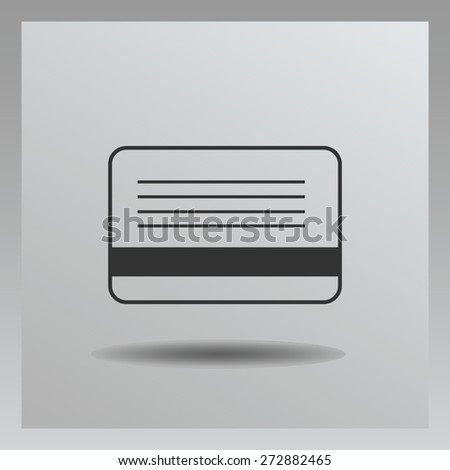 Bank credit card icon, vector illustration. Flat design style. - stock vector