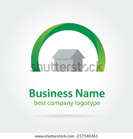 Bank, finance organization vector logo template. Money icon, home, house, roof, mortgage, banking, loan, broker, growth. Realty logo, mortgage. Real estate. Lawyer office. Development logo. House logo
