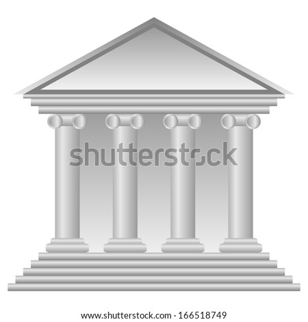 Bank icon on white background - vector illustration.