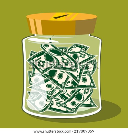 Bank money - stock vector