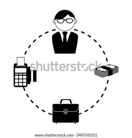 Bank, money and online payment graphic design, vector illustration eps10