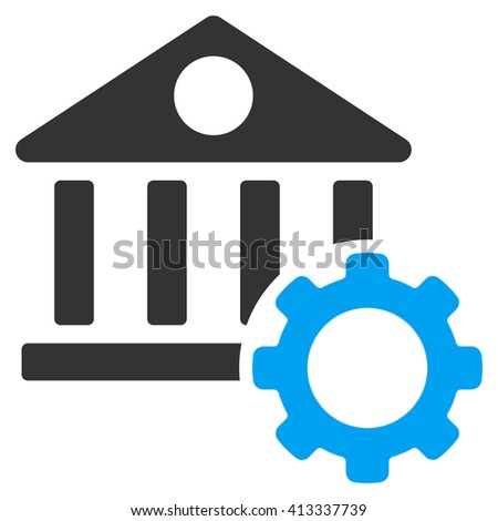 Bank Options vector icon. Style is bicolor flat icon symbol, blue and gray colors, white background. - stock vector
