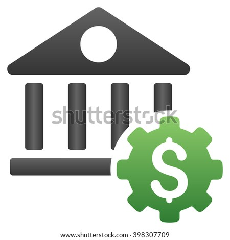 Bank Options vector toolbar icon for software design. Style is a gradient icon symbol on a white background. - stock vector