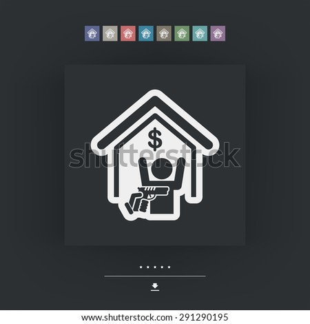 Bank robbery - stock vector