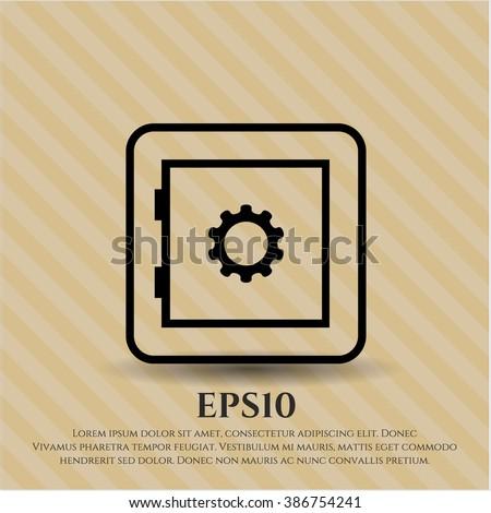 Bank Safe icon vector illustration - stock vector