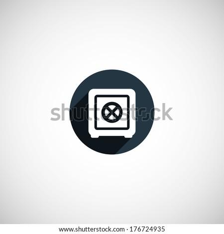 bank safe sign - stock vector