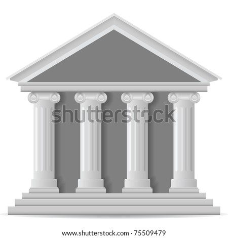 Bank, vector eps version 8 - stock vector