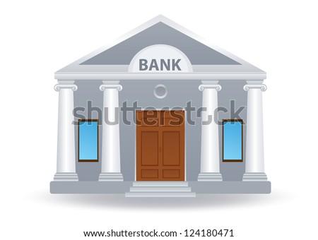 Bank. Vector illustration - stock vector