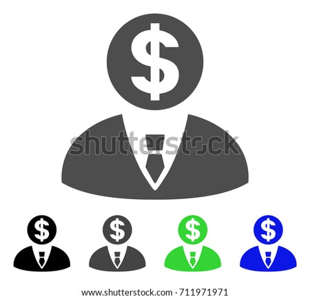 Banker Icon Vector Illustration Style Flat Stock Vector ...