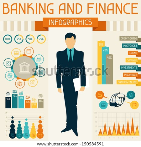Banking and finance infographics. - stock vector
