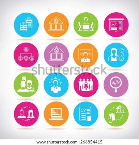 banking and organization management icons