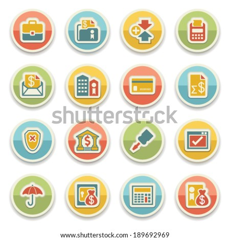 Banking color icons. - stock vector