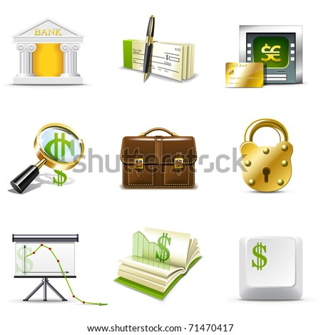Banking icons | Bella series - stock vector