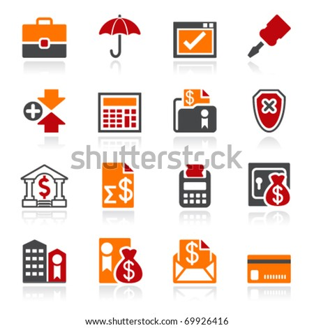 Banking icons. Color series. - stock vector