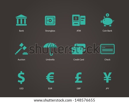 Banking icons. Vector illustration. - stock vector