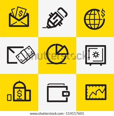 Banking Items - stock vector