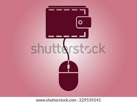 banking transactions with money icon - stock vector