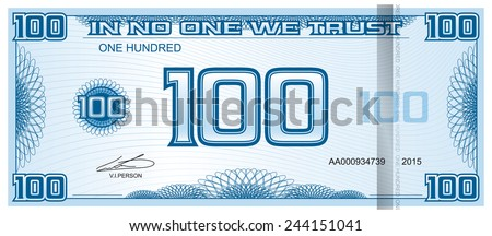 banknote one hundred - stock vector