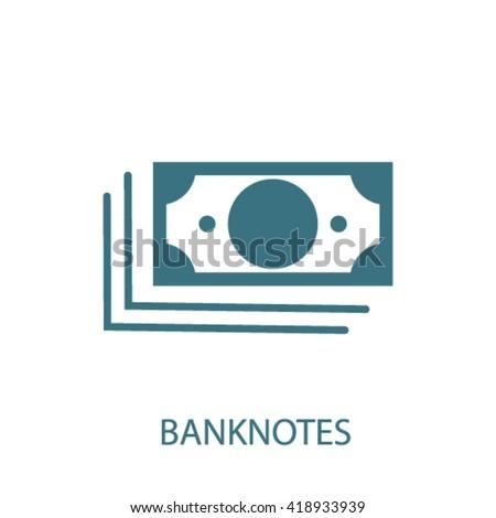 banknotes icon   - stock vector