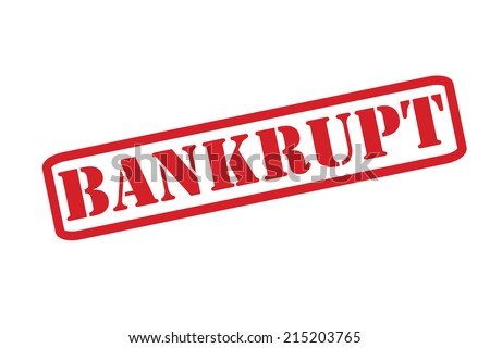 BANKRUPT Rubber Stamp vector over a white background. - stock vector